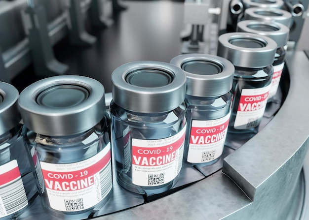 Arrangement de vaccin 3d covid19