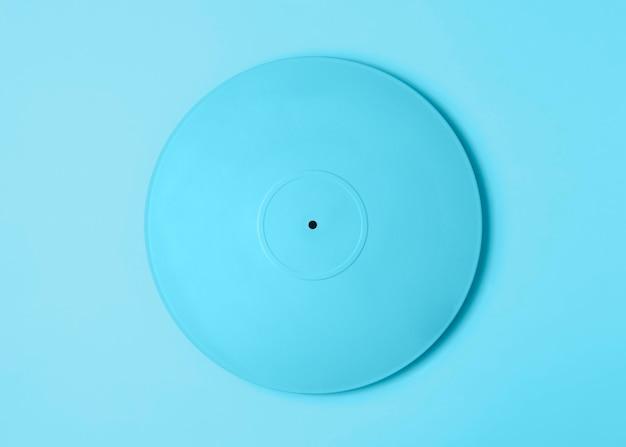 Arrangement de vinyle peint en bleu