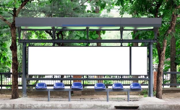 Arrêt d'autobus vide billbord