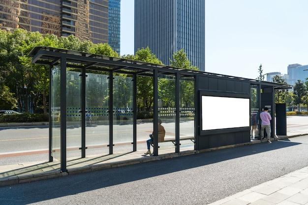 Arrêt du bus sur la scène, hangzhou, chine