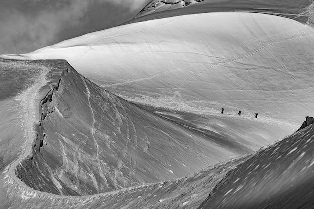 Arrete du midi, massif du mont blanc