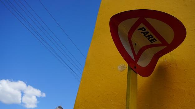Arrêter le panneau de signalisation à cuba