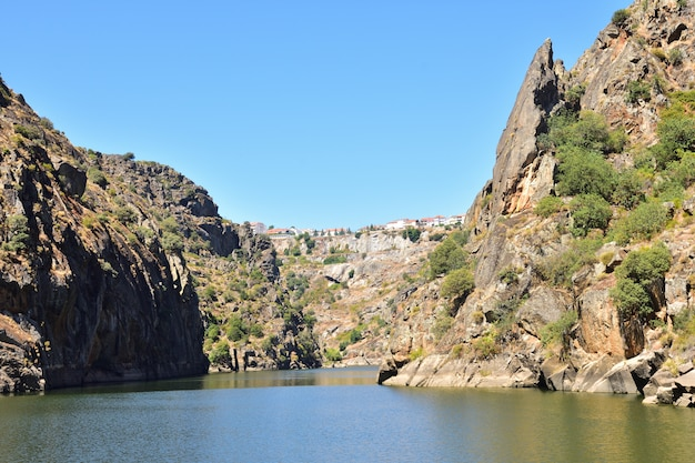 Arribes do douro, paysage près de miranda do douro, portugal