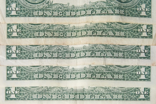 L'arrière du fond des billets d'un dollar