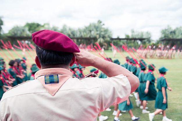 L'arrière du maître scout