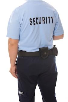 Arrière d'un gardien de sécurité isolé