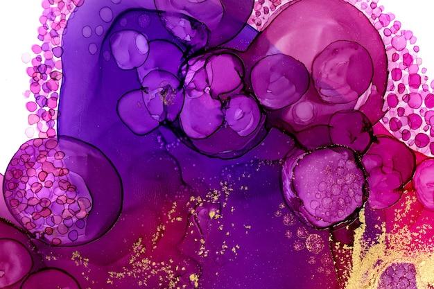 Arrière-plan abstrait aquarelle couleur bordeaux avec des bulles violettes
