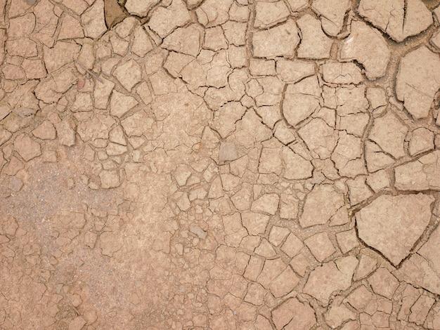 Arrière-plan abstrait faille du sol changement climatique et sécheresse