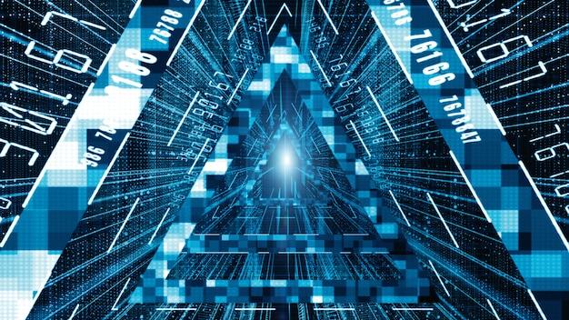 Arrière-plan abstrait de particules de matrice numérique