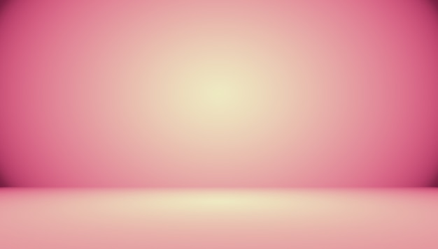 Arrière-plan abstrait de salle de studio rose clair et lisse, utilisé comme montage pour l'affichage du produit, bannière, modèle.
