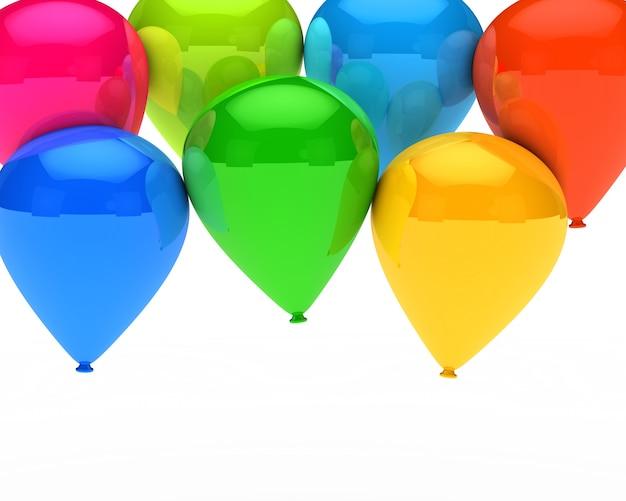 Arrière-plan avec des ballons colorés