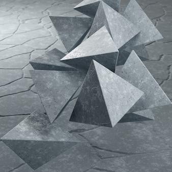 Arrière plan béton triangulaire formes résumé