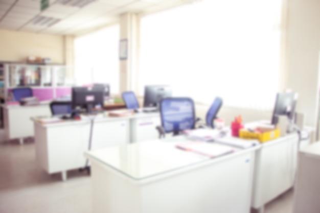 Arrière-plan de bureau, intérieur de bureau floue.