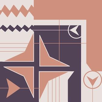 Arrière-plan avec un design géométrique à la mode applicable pour les dépliants d'affiches de bons de couverture