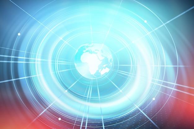 Arrière-plan du réseau mondial d'affaires et de commerce