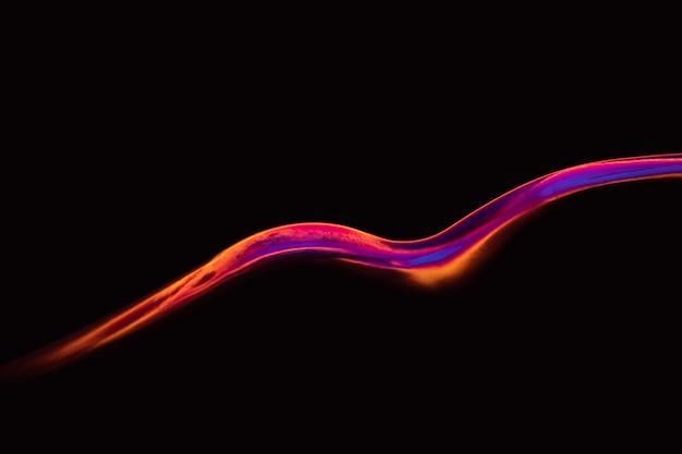 Arrière-plan esthétique avec effet de lumière néon abstrait
