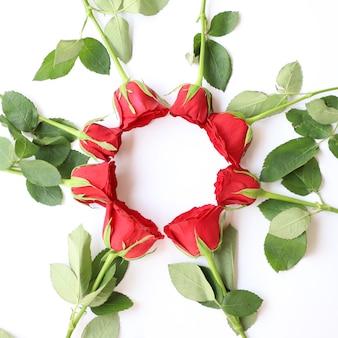 Arrière-plan floral polyvalent rose rouge élégant