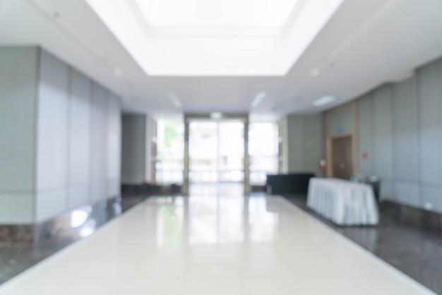 Arrière-plan flou abstrait vue intérieure donnant sur le bureau vide et la porte d'entrée