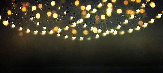 Arrière-plan flou avec bokeh. carte de voeux de noël et bonne année.