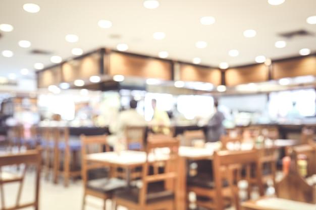 Arrière-plan flou: café flou avec fond clair bokeh, bannière, concept de nourriture et de boisson