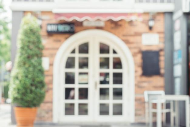 Arrière-plan flou: café-restaurant flou fond avec bokeh