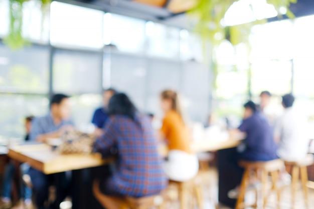 Arrière-plan flou: espace de travail collaboratif flou