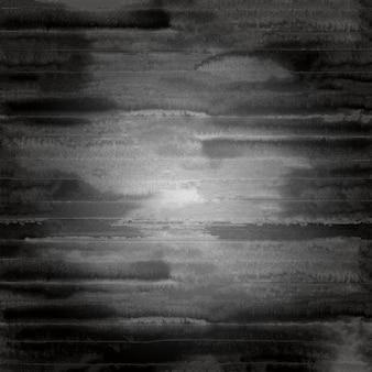 Arrière-plan flou grunge noir et blanc. rayures noires aquarelles sur fond blanc
