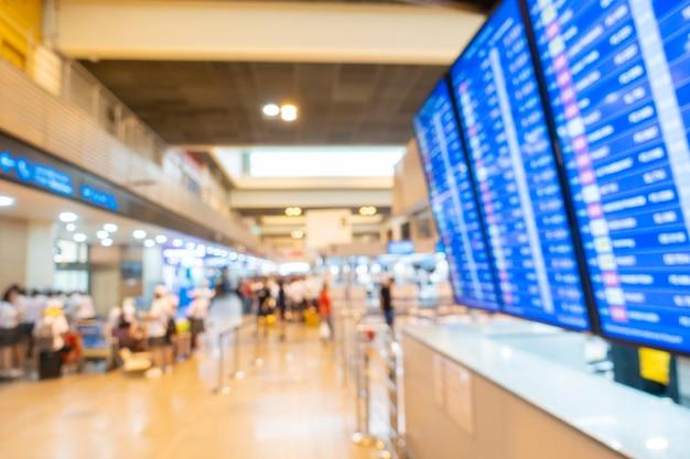 Arrière-plan flou de l'intérieur de l'aéroport