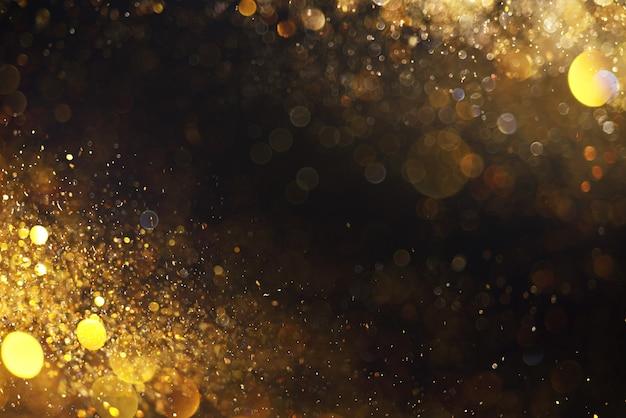 Arrière-plan flou avec des lumières jaunes