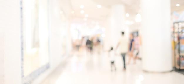 Arrière-plan flou de magasin de détail, espace de copie de toile de fond d'étagère de produit d'épicerie flou pour la bannière publicitaire d'affichage d'entreprise, comptoir de café flou avec fond d'écran abstrait bokeh léger