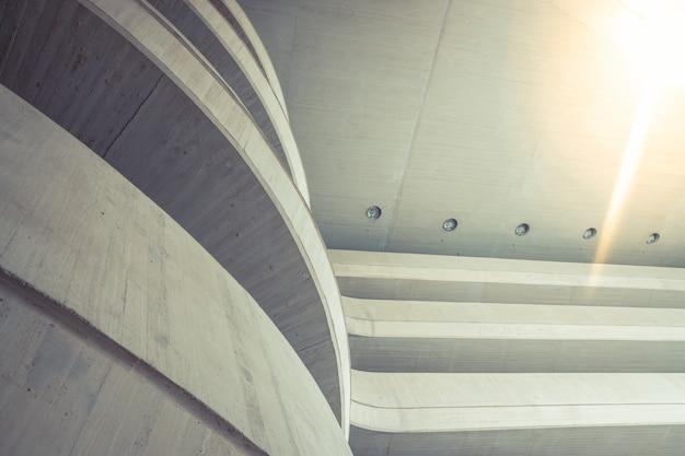 Arrière-plan industriel d'une construction composite de style simple, clair et minimaliste.