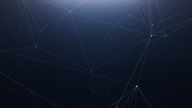 Arrière-plan de la ligne abstraite de la technologie plexus