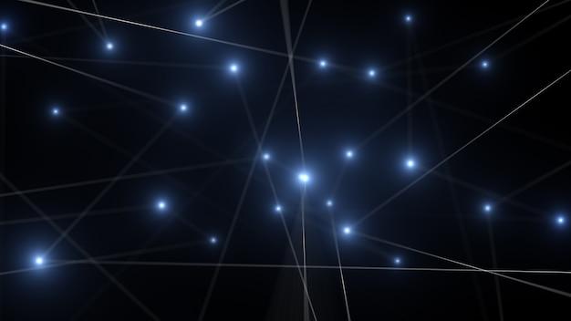 Arrière-plan de ligne abstraite de technologie réseau