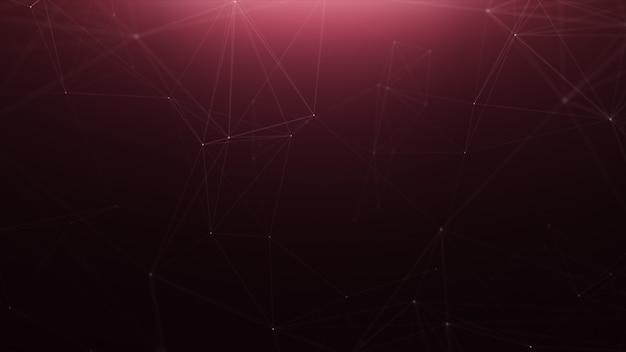 Arrière-plan de la ligne abstraite de la technologie rouge