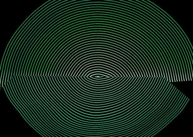 Arrière-plan lumineux conçu par une ligne de néon, tourné avec une longue exposition, vert