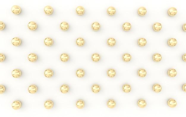 Arrière-plan minimaliste généré par ordinateur avec des sphères dorées
