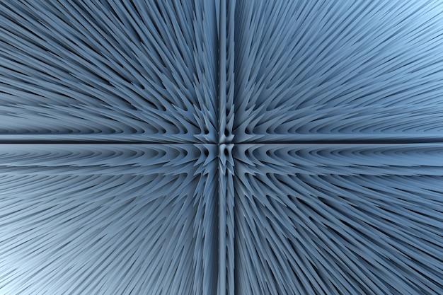 Arrière-plan à la mode dans des couleurs néon lumineux illustration 3d d'une figure bleu néon