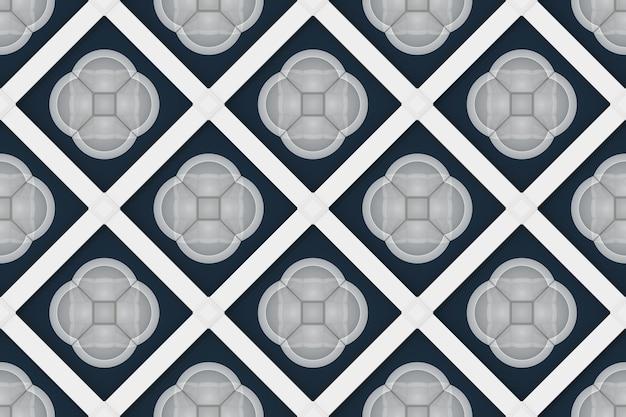 Arrière-plan de modèle sans couture de cercle gris fleur forme