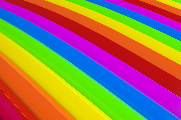 Arrière-plan de panneau de courbe de couleur d'arc-en-ciel de lgbt.