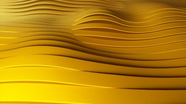 Arrière-plan de rangées de rayures jaunes pop-up multicolores