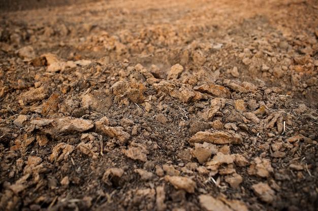 Arrière-plan, sol, fond marron l'agriculture biologique proche de la nature, la texture de la boue