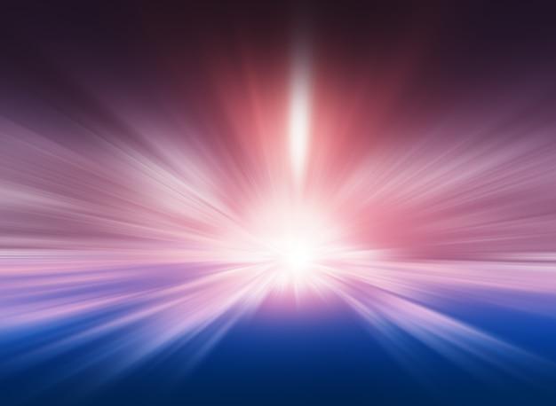 Arrière-plan de téléportation de flou de mouvement rose et bleu centré