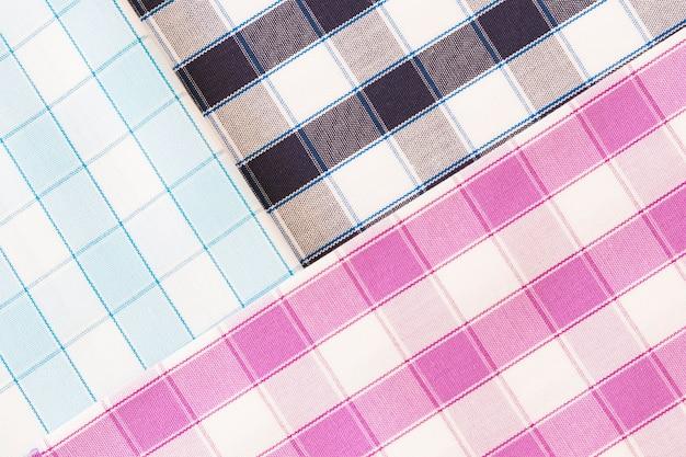 Arrière-plan de tissu de motif à carreaux différents
