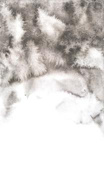Arrière-plans abstraits aquarelles noires, peinture à la main sur papier.