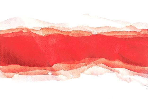 Arrière-plans aquarelle rouge multicouche, peinture à la main