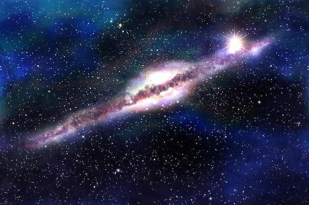 Arrière-plans de galaxies cosmiques avec des planètes et des étoiles