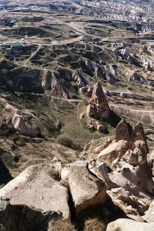 Arrière-plans de montagnes anciennes de la région de la cappadoce
