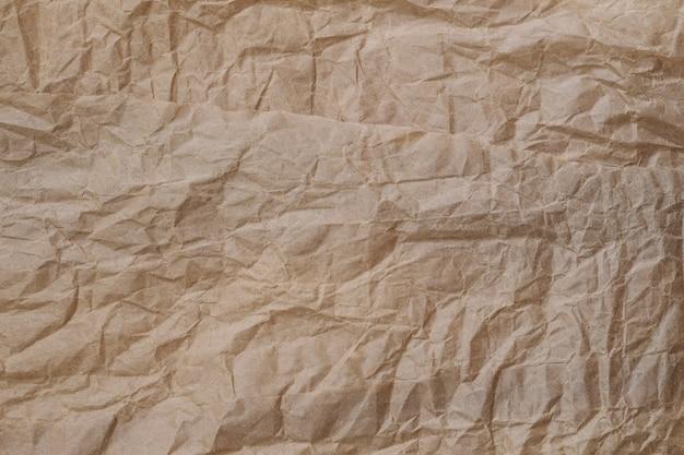 Arrière-plans de texture de papier brun froissé