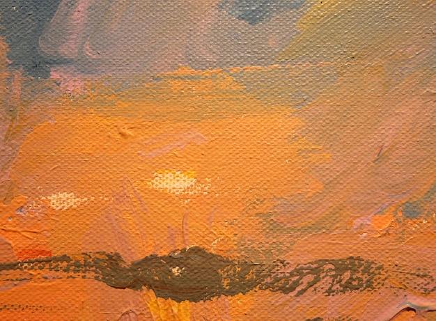 Art abstrait arrière-plan peinture à l'huile sur toile couleur texture coups de pinceau de peinture