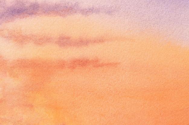 Art abstrait couleurs corail et orange.